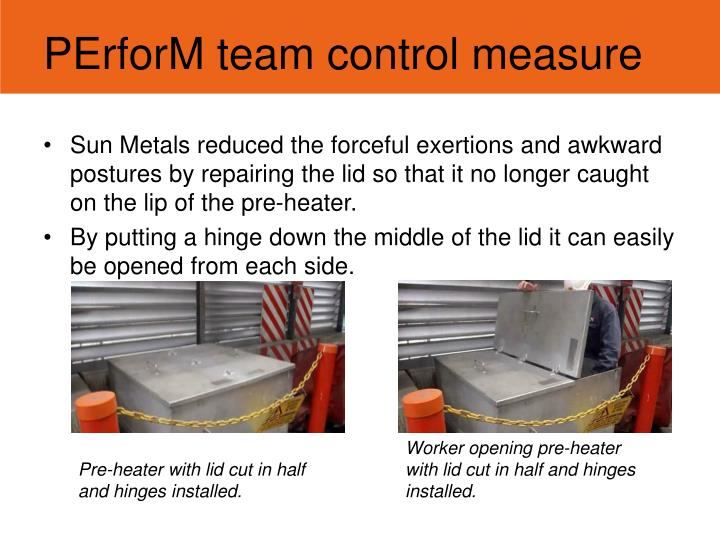 PErforM team control measure