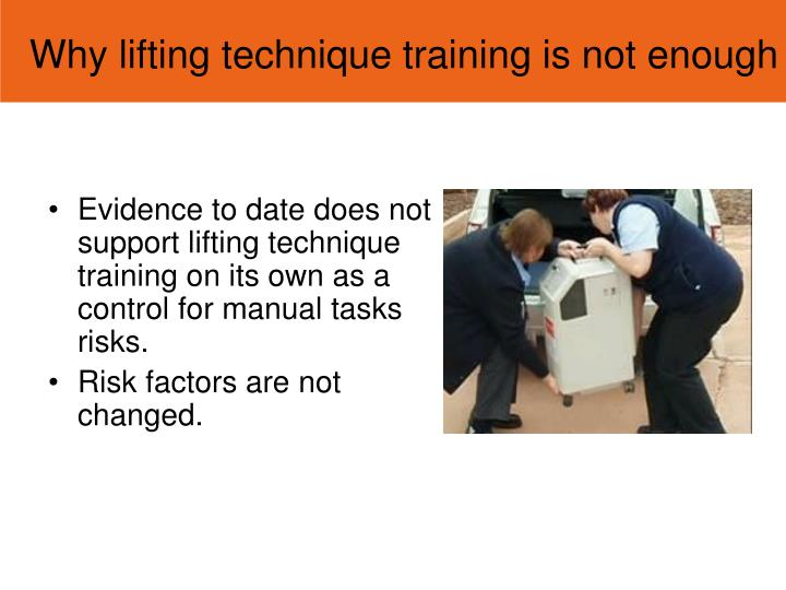 Why lifting technique training is not enough