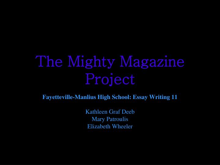 The mighty magazine project