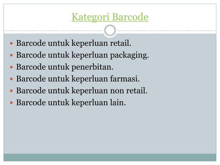 Kategori Barcode