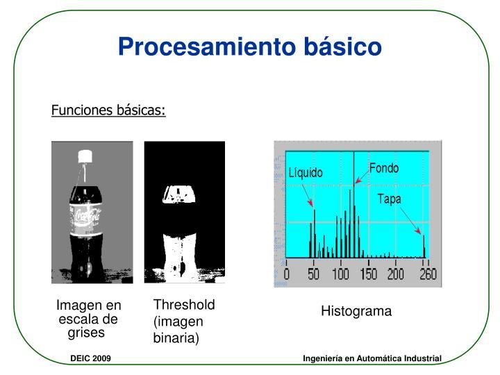 Procesamiento básico
