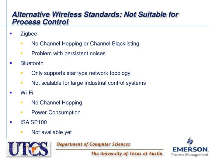 Alternative Wireless Standards: Not Suitable for