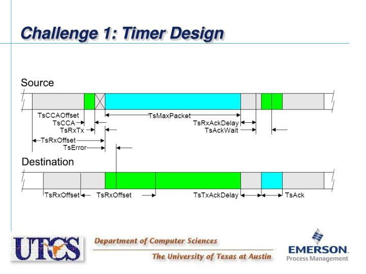 Challenge 1: Timer Design