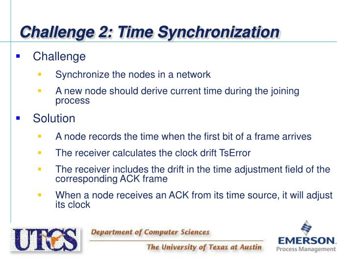 Challenge 2: Time Synchronization