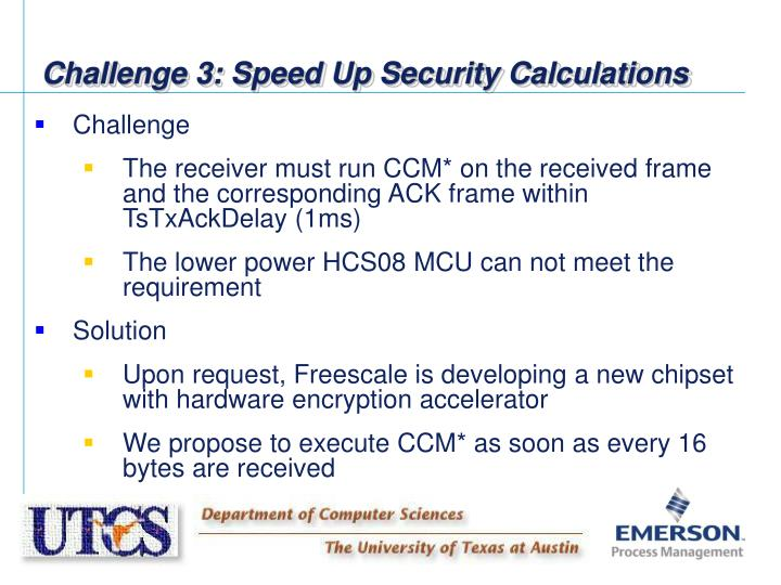 Challenge 3: Speed Up Security Calculations