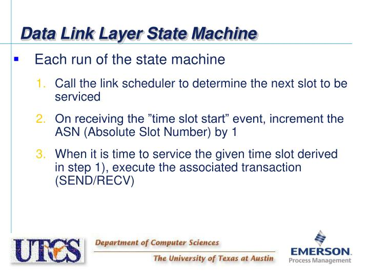 Data Link Layer State Machine