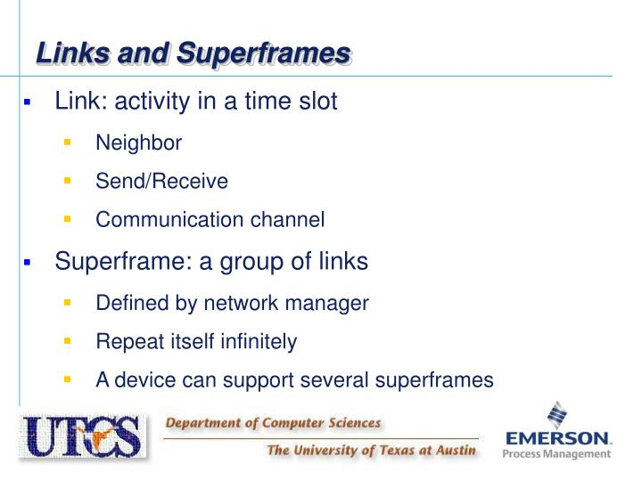 Links and Superframes