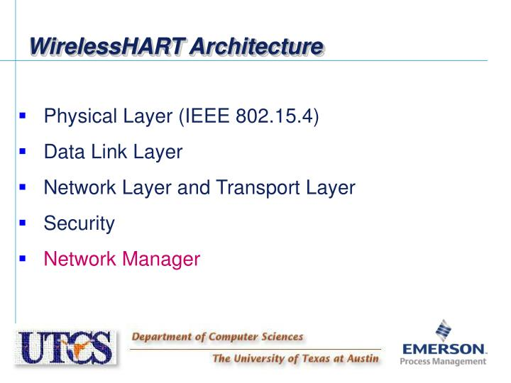WirelessHART Architecture