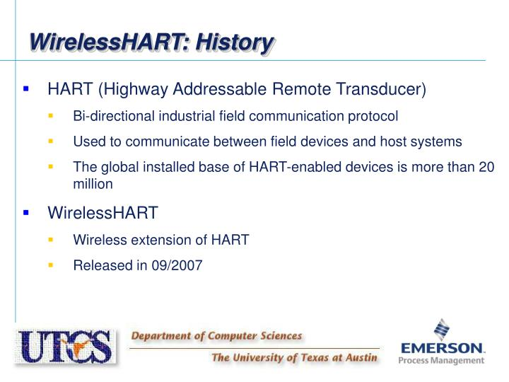 WirelessHART: History