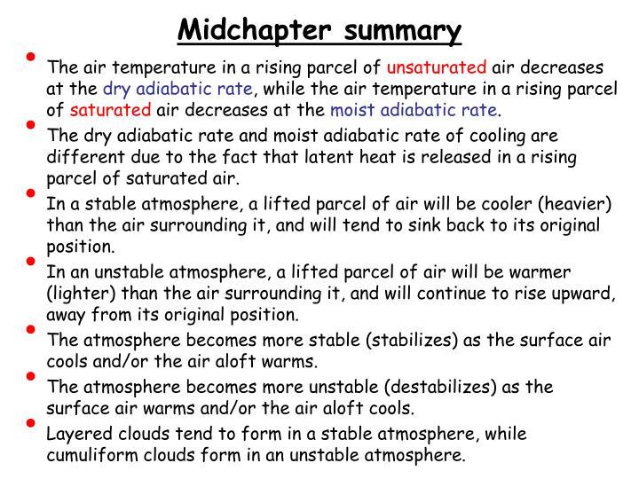 Midchapter summary