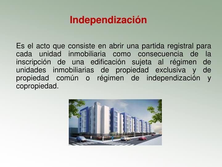 Independización