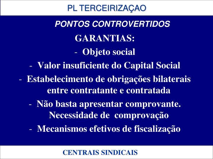 GARANTIAS: