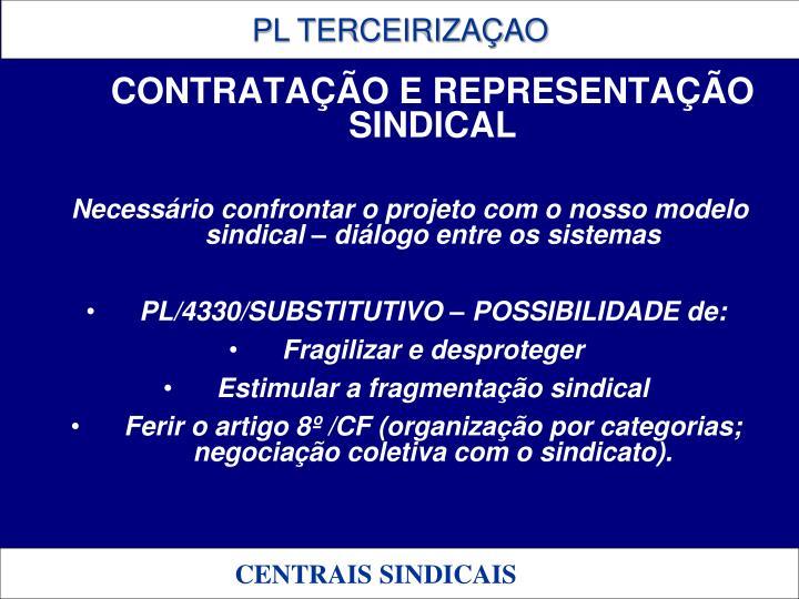 CONTRATAÇÃO E REPRESENTAÇÃO SINDICAL