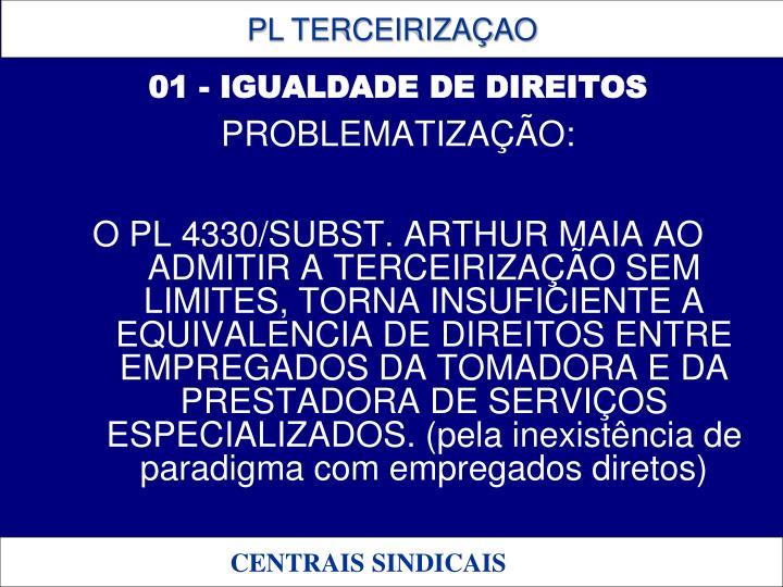 01 - IGUALDADE DE DIREITOS