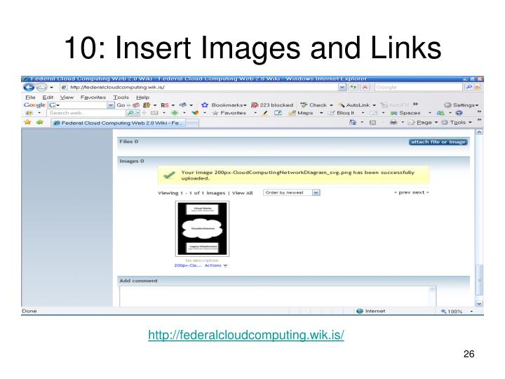 10: Insert Images and Links