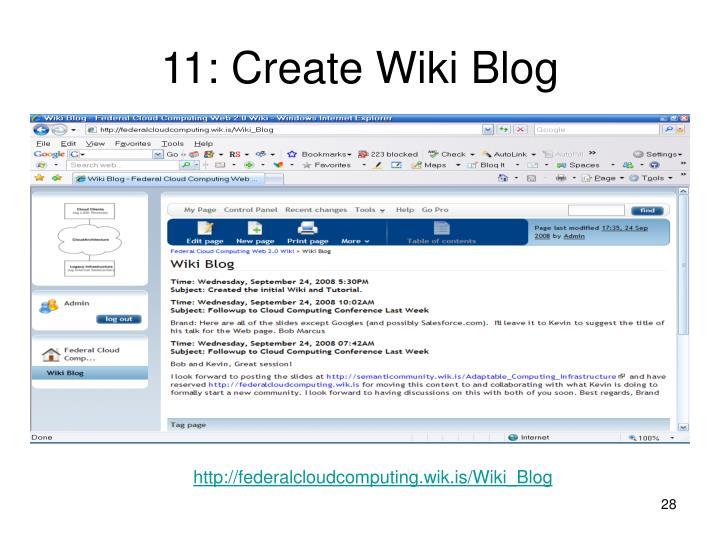 11: Create Wiki Blog