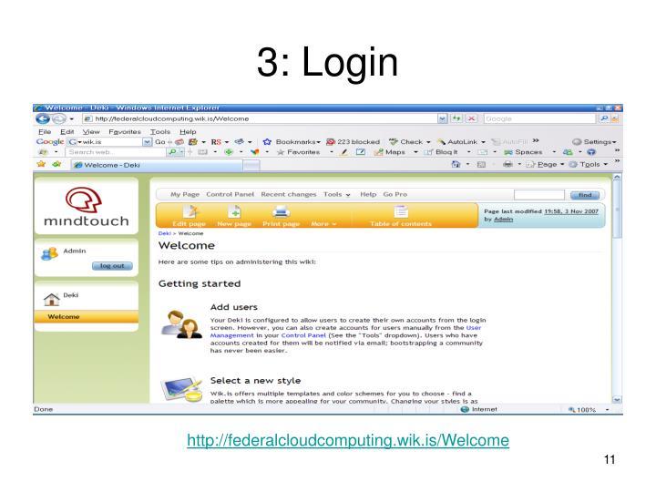 3: Login