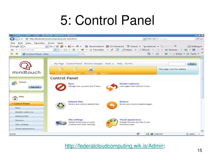 5: Control Panel