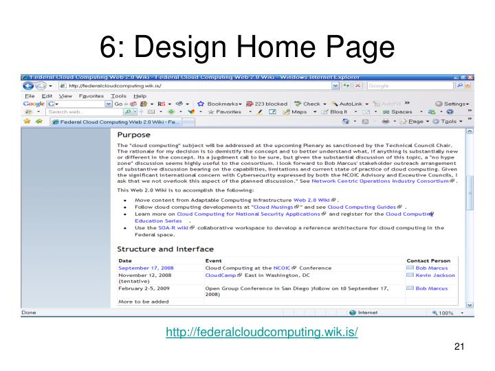 6: Design Home Page