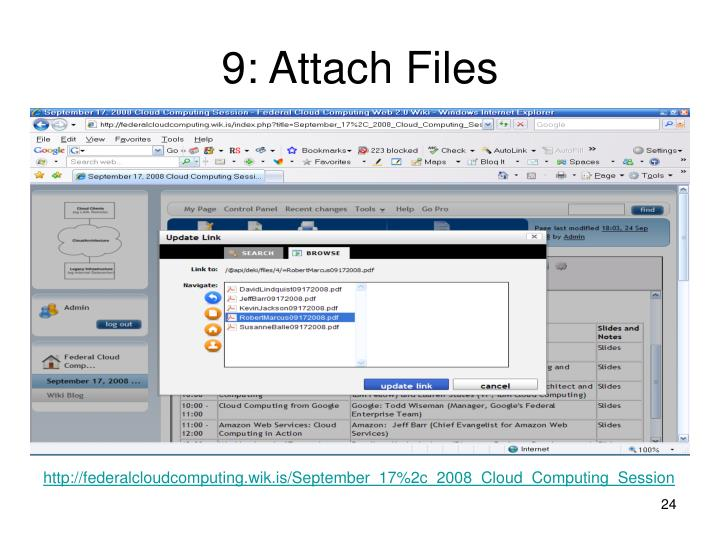9: Attach Files