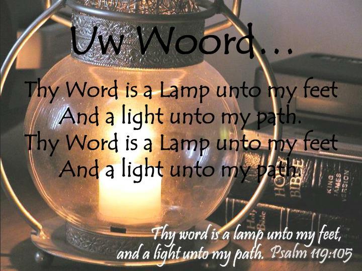Uw Woord…