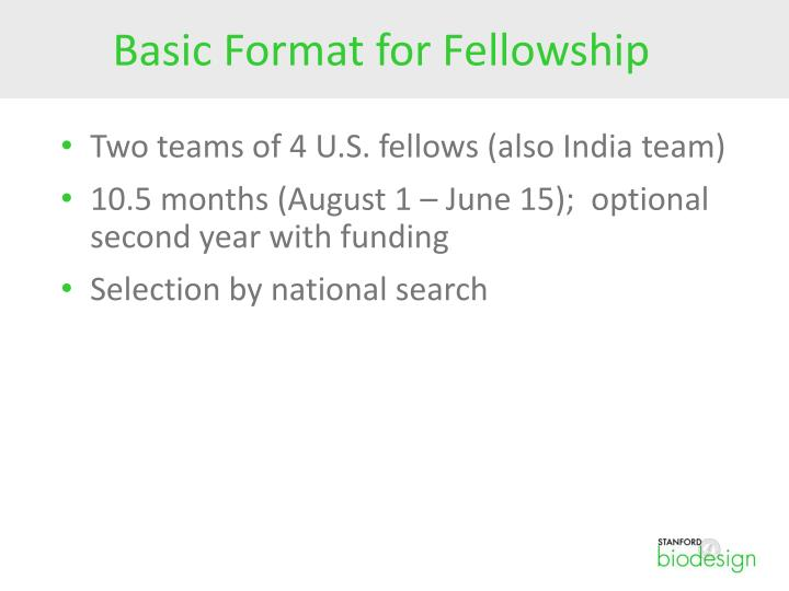 Basic Format for Fellowship
