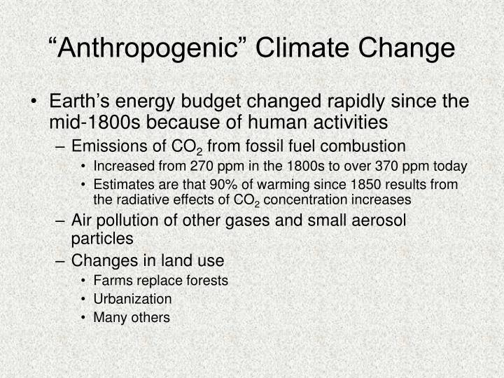 """Anthropogenic"" Climate Change"