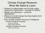 climate change research what we need to learn