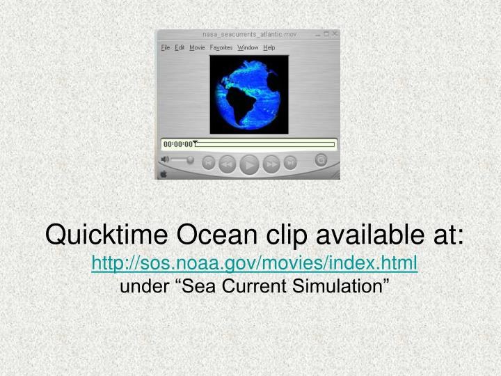 Quicktime Ocean clip available at: