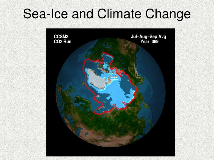 Sea-Ice and Climate Change