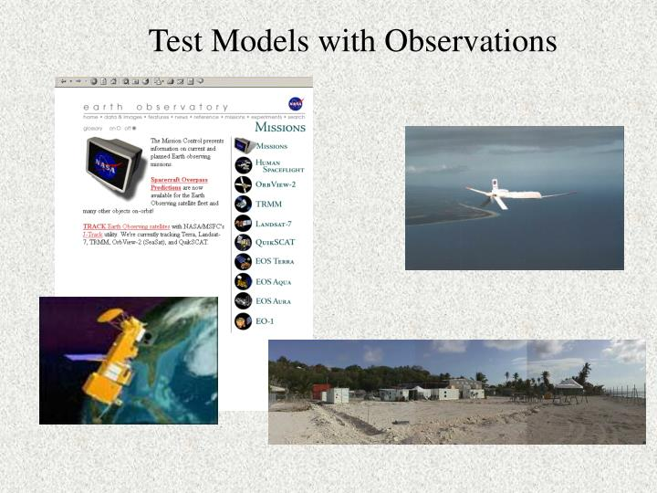 Test Models with Observations
