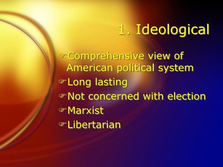 1. Ideological