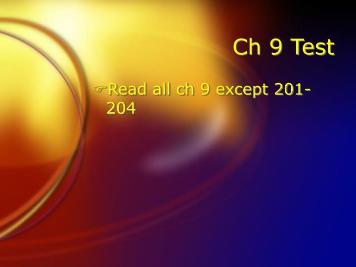 Ch 9 Test