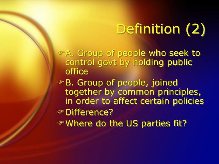Definition (2)