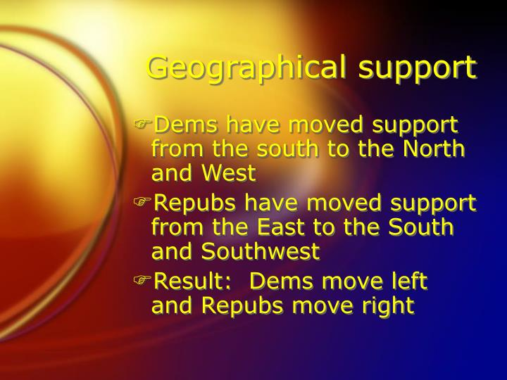 Geographical support