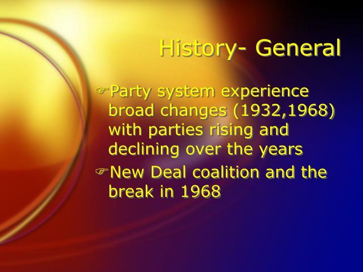 History- General