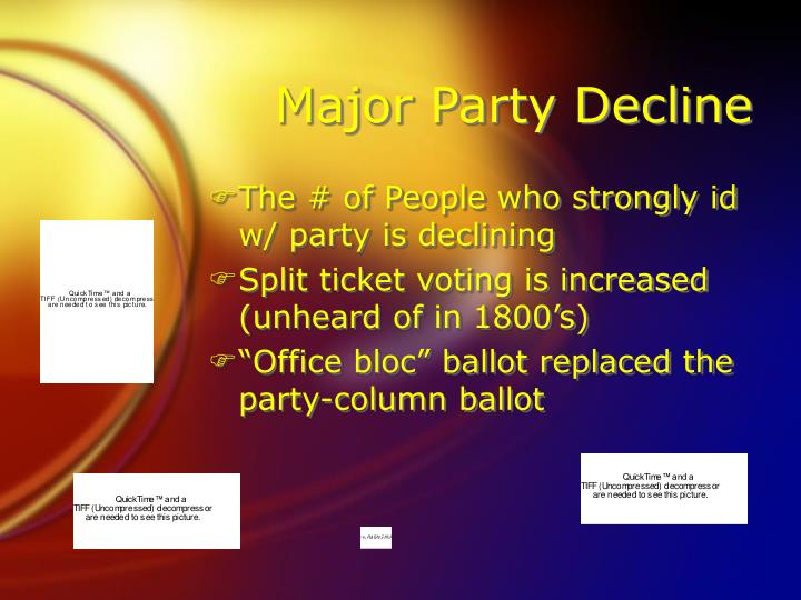 Major Party Decline