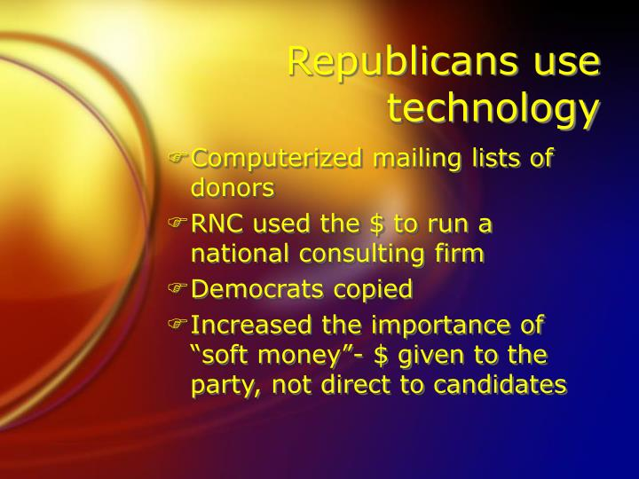 Republicans use technology