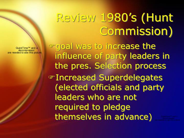Review 1980's (Hunt Commission)