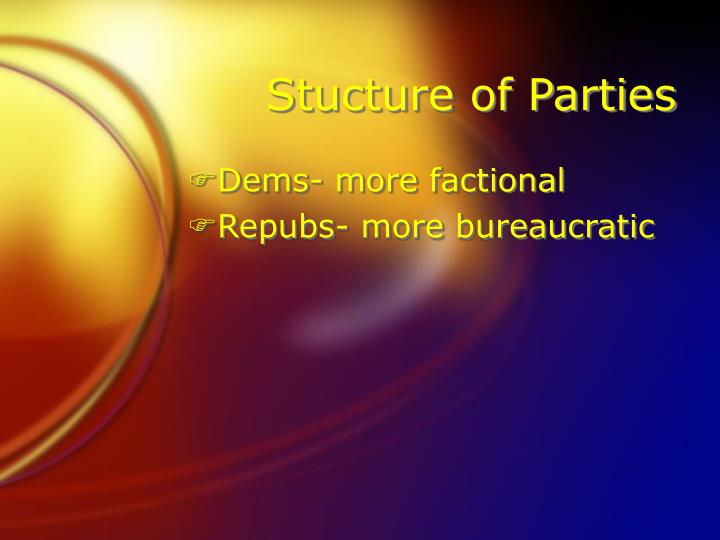 Stucture of Parties