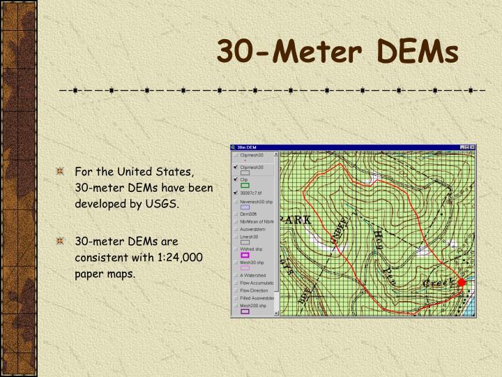 30-Meter DEMs