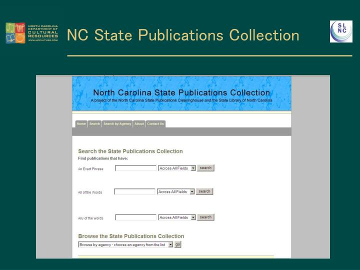 NC State Publications Collection