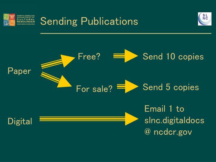 Sending Publications