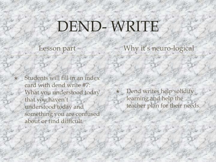 DEND- WRITE