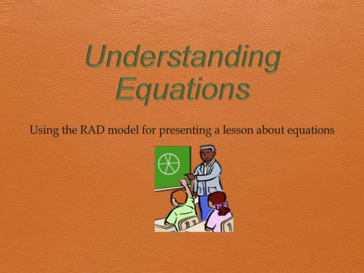 Understanding equations