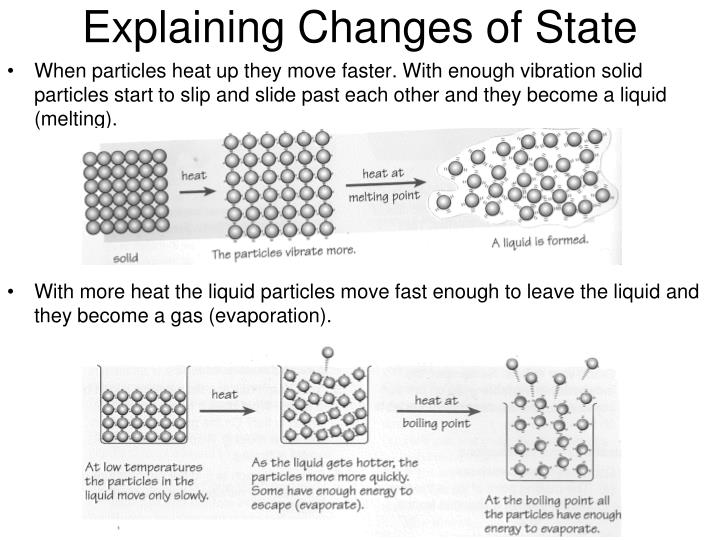 Explaining Changes of State