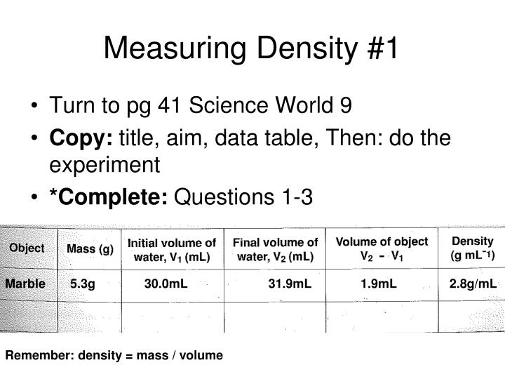 Measuring Density #1