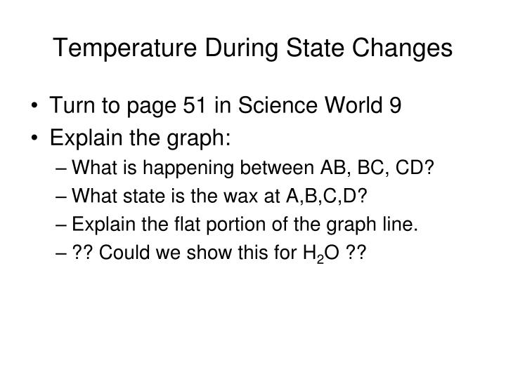 Temperature During State Changes