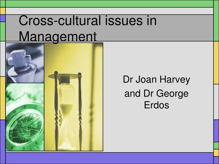 Cross cultural issues in management