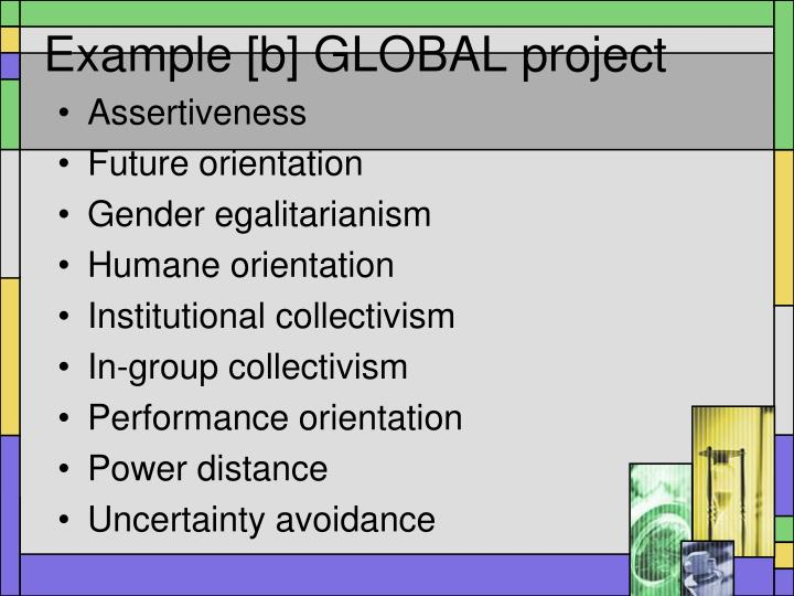 Example [b] GLOBAL project